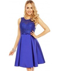 Dámské šaty doplněné krajkou Charm´s Paris modré Charm s Paris 9077 068bc2a4b7