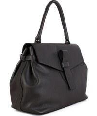 1753d4dd0a32 TALIANSKE Elegantná kožená kabelka do ruky Talianska sivá Rina