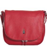 Kožená kabelka športová crossbody Wojewodzic červená 31506 GS08 96a4bc7bc08