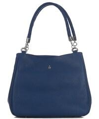 Wojewodzic kožené kabelky na plece veľké modré Esmeralda 31215 GS30 ... c5c67dae459
