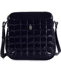 Kožená kabelka na rameno online lakovaná modrá Wojewodzic 31120 P PL14 30a653faf7f