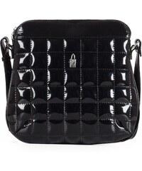 fd5f7c8930 Stredné lakované kožené kabelky crossbody na párty Wojewodzic čierne  31120 P PL01