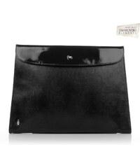 Kožená kabelka malá listová lakovaná Wojewodzic čierna 3GD28 PC01 ... cabcf3532c3