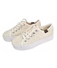 Dámské boty zimní tenisky bílé 3272 1e7c85efe4