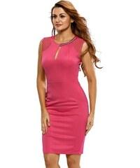 Levné růžové koktejlové letní šaty. 499 Kč 50df756217