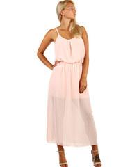 TopMode Dlouhé šifonové maxi šaty (světle růžová f525aa03d9