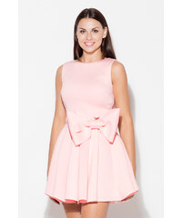 Katrus Světle růžové šaty K271 97c98caf09