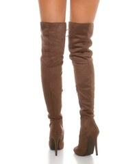 1e2b5114de In-Style Dámske luxusné čižmy nad kolená