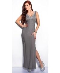 c0a5af6e74e9 Koucla Elegantné maxi šaty zdobené veľkými kamienkami