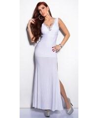 9fad6260df Koucla Elegantné maxi šaty zdobené veľkými kamienkami