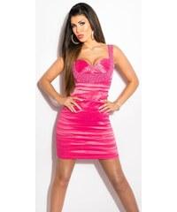 Koucla Kokteilové šaty s perličkami 3638f61aa59