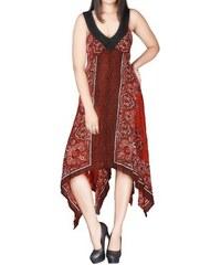 728172a1275 Dovoz Anglie Dámské letní cípaté šaty na ramínka velikost 46