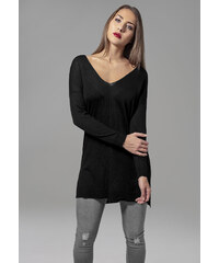 Urban Classics Ladies Fine Knit Oversize V-Neck Sweater 251f751908f