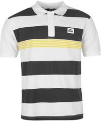 Polokošile pánská Lonsdale Yarn Dye Stripe Wht Char Yellow 24a82e463d