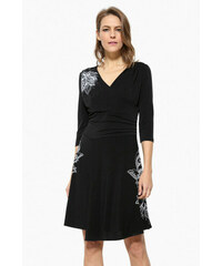 Desigual černé šaty Alison 17WWVK45 79fa64fcbd