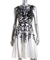 901cabd9b4b Ralph Lauren černo-bílé šaty s drobnými lístky