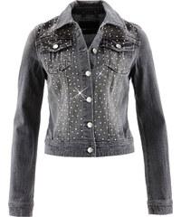 bpc selection Jeansjacke langarm in grau für Damen von bonprix