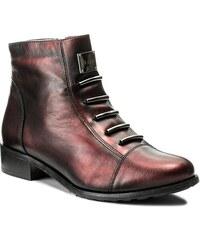 Magasított cipő EKSBUT - 66-4088-F95-1G Bordo Czarny 3d42d302d9