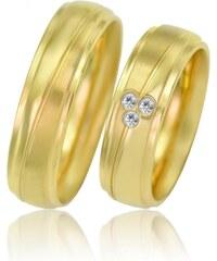 Eppi Zlaté svadobné obrúčky s diamantmi Qual 6c640f41a83
