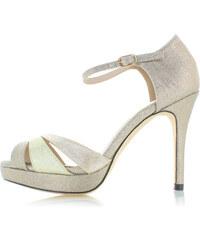 PRETTYLITTLETHING Zlaté páskové sandály na podpatku - Glami.cz 6299706b29