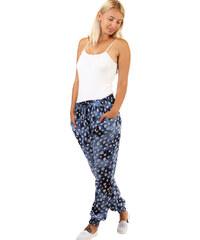 TopMode Dámské batikované kalhoty s potiskem (modrá 363ba05f0d