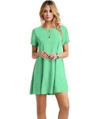 Dámské šaty světle zelené krátký rukáv 8fa7f543ed