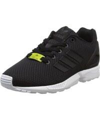 adidas ZX Flux Split K, Baskets Basses Mixte Enfant, Noir (Onix/Equity Green/Footwear White), 36 EU