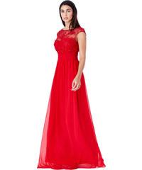 Červené jednobarevné večerní šaty - Glami.cz 3c98ba54f2