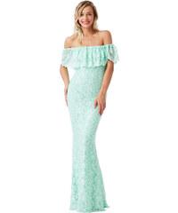 CITYGODDESS Společenské šaty Hispania Bardot mentolové 37c4959f4a