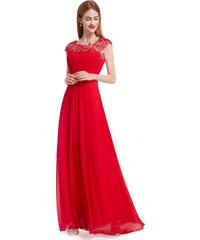 8c51dd2f88dd Ever Pretty plesové šaty s krajkou červené 9993