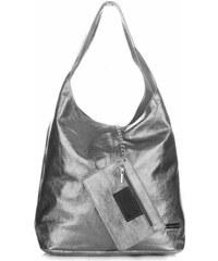 Dámská kožená kabelka shopperka Vittoria Gotti V5012 iron 46d6e23c7cb