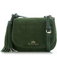 Kožené kabelky semišové crossbody zelené malé Wittchen 6wit-01-5-320 fb75f7ec097