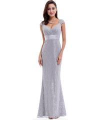 Ever Pretty plesové šaty šedé stříbrné 8798 7a58f0ea31