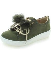 cd3e0981d3 Olivia Shoes Tmavě zelené kožené tenisky Silvia