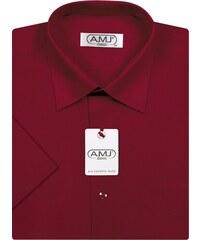 Pánská košile AMJ Classic s krátkým rukávem - vínová 4a95312396