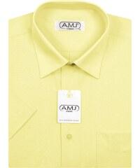 d67115cf35f Pánská košile AMJ Classic s krátkým rukávem - světle žlutá