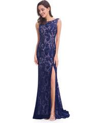 Elegantní krajkové Ever Pretty šaty modré 8859 23cc1851de