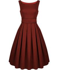 LINDY BOP Dámské retro šaty Lana Vínové 3097ef5e3d