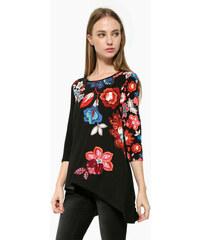 Květované dámská trička s tříčtvrtečním rukávem - Glami.cz b431c2d1f3