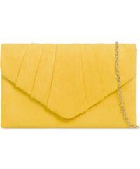 ikabelky Semišová listová kabelka -K-W308 žltá f20fdd6cbe1