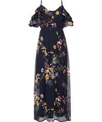 YooY Batikované maxi šaty s potiskem - i pro plnoštíhlé (tmavě modrá ... 51cf40803b