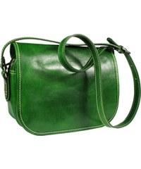 8e2e462851 NovaKabelka.cz Zelená kožená kabelka z Itálie Floriano Verde