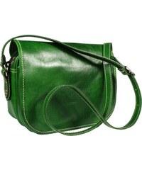NovaKabelka.sk Zelená kožená kabelka Floriano Verde z Talianska 5b375ca6b6a
