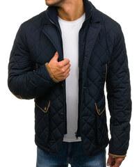 Tmavě modrá pánská zimní elegantní bunda Bolf 3086 580d68e101