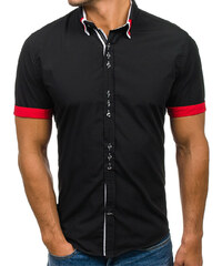 692f97400a2 Černá pánská elegantní košile s krátkým rukávem Bolf 2926
