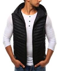 Brand Čierna pánska vesta s kapucňou (tx1663) 07-tx1663 7f1aaa46bc9