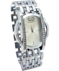 54833f8ae33 G.D Dámské hodinky s kříšťály GD Extra stříbrné 160ZD
