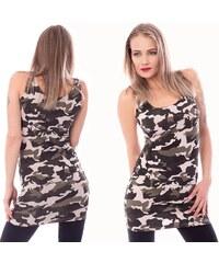 V V Maskáčové mini šaty - Army Dress e94edbc2be1