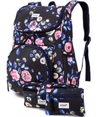 SET  Dívčí námořnicky modrý školní batoh Lola 1743 6208615f25