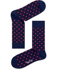 24e5f2a121e Modré ponožky Happy Socks s červenými tečkami